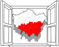 map of south London